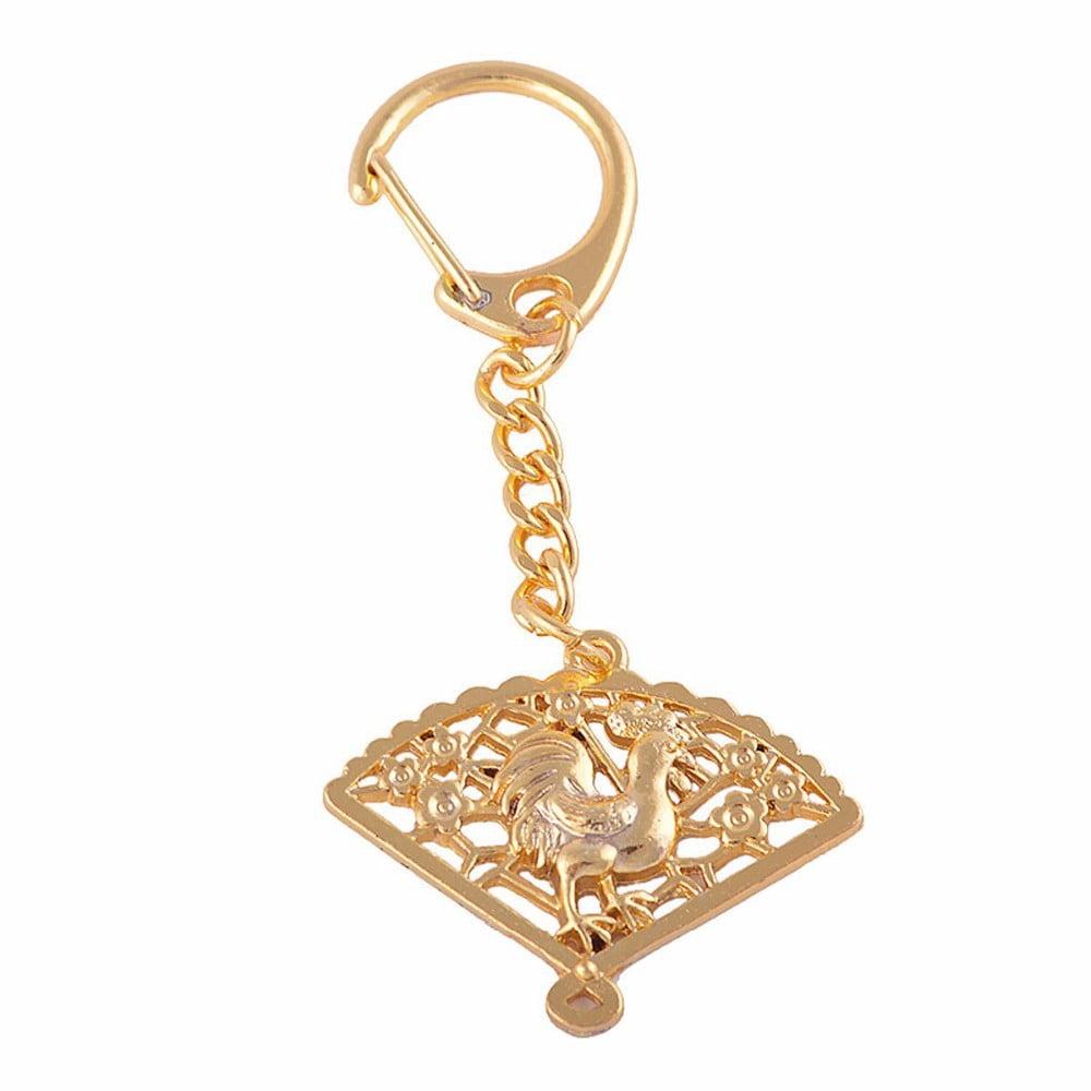 Amuleta Feng Shui cu Cocos auriu si evantai