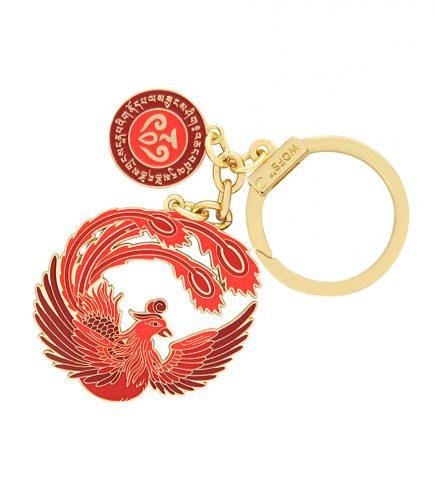 Amuleta Pasarea Phoenix rosie fata