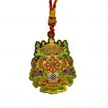 Amuleta cu cele 8 simboluri si dubla dorje fata
