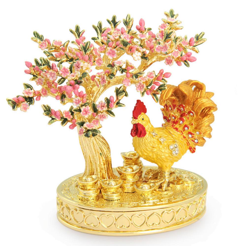 Statueta cu Cocos si Floare de Piersic