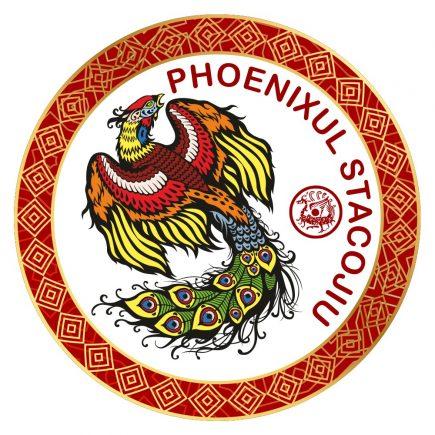 Abtibild cu Phoenixul stacojiu - cele 4 animale celeste