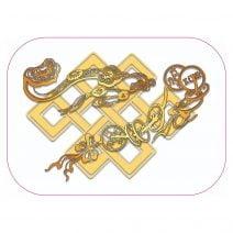 Abtibild cu nodul mistic Ru Yi si Monede