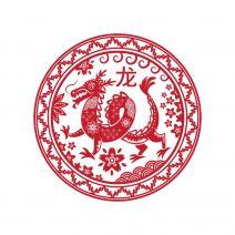 Abtibild feng shui cu zodia dragon mic