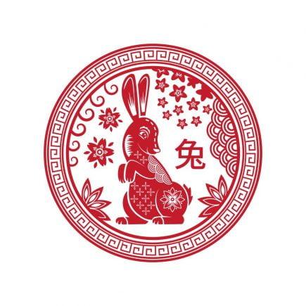Abtibild feng shui cu zodia iepure mic