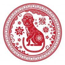 Abtibild feng shui cu zodia maimuta mare