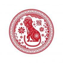 Abtibild feng shui cu zodia maimuta mica