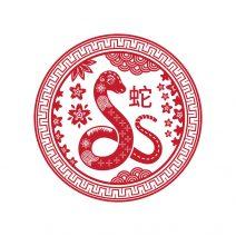 Abtibild feng shui cu zodia sarpe mic