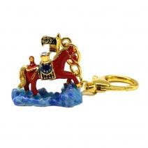 Amuleta cu Cal de vant rosu si Stegul Victoriei pentru succes