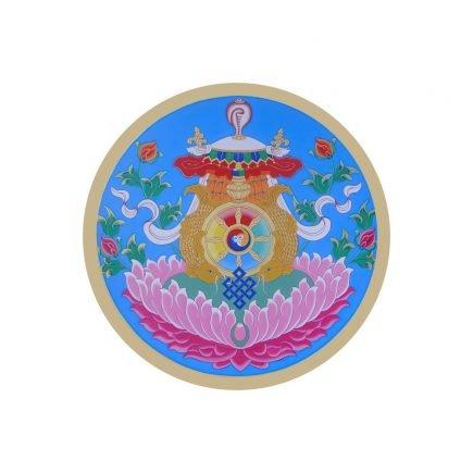 abtibild cu cele 8 simboluri tibetane v1 -mare