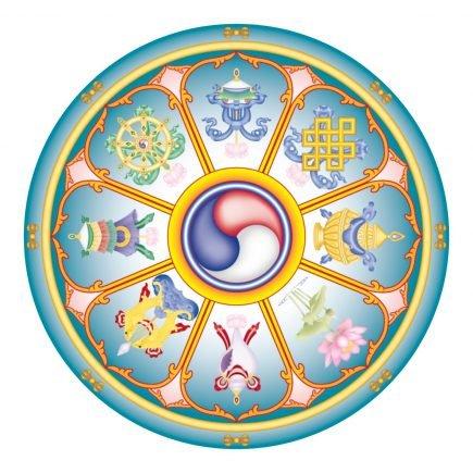 abtibild cu cele 8 simboluri tibetane v2 mare