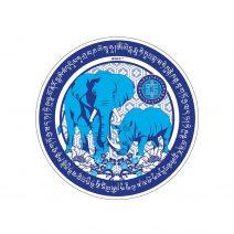 8080 Abtibild cu Elefant si Rinocer albastri - mic