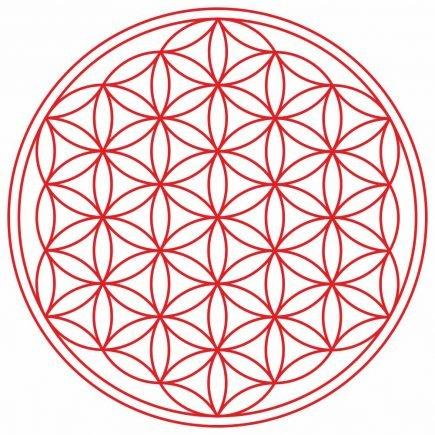 Abtibild cu Floarea Vietii , Simbolul vietii - Rosu mare