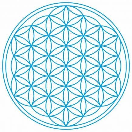 Abtibild cu Floarea Vietii , Simbolul vietii - Albastru mare