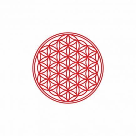 Abtibild cu Floarea Vietii, Simbolul vietii - Rosu mic
