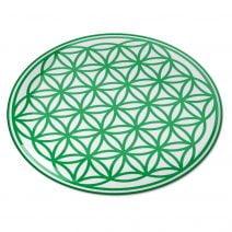8098 Abtibild stiker 3D cu Floarea Vietii, Simbolul vietii verde