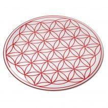 8099 Abtibild stiker 3D cu Floarea Vietii, Simbolul vietii rosu