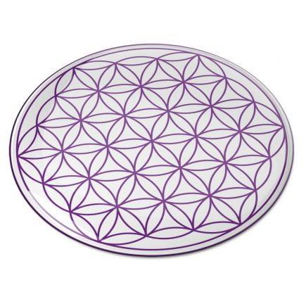 8100 Abtibild stiker 3D cu Floarea Vietii, Simbolul vietii violet