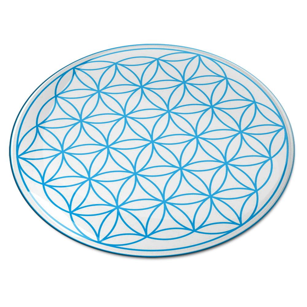 8101 Abtibild stiker 3D cu Floarea Vietii , Simbolul vietii albastru