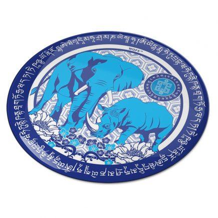 8104 Abtibild stiker 3D cu Buddha medicinei albastra pe floare de lotus