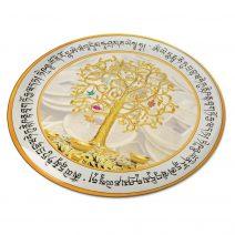 8108 Abtibild stiker 3D cu copacul prosperitatii, monede chinezesti, pepite, mantre si cele 8 simboluri tibetane