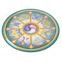 8109 Abtibild stiker 3D cu cele 8 simboluri tibetane v1