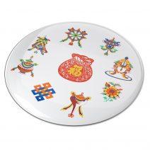 8112 Abtibild stiker 3D cu cele 8 simboluri tibetane si sacul abundentei