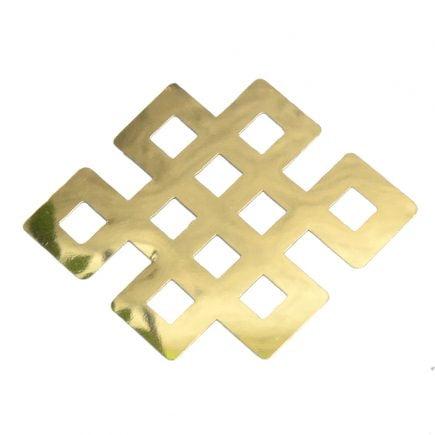 8124 Abtibild stiker cu nod mistic auriu metalic fata
